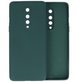 Fashion Color Backcover Hoesje OnePlus 8 - Donker Groen