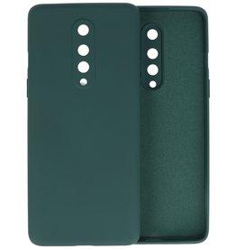 OnePlus 8 Hoesje Fashion Color Backcover Telefoonhoesje Donker Groen