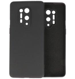 OnePlus 8 Pro Hoesje Fashion Color Backcover Telefoonhoesje Zwart