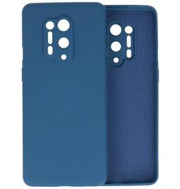 OnePlus 8 Pro Hoesje Fashion Color Backcover Telefoonhoesje Navy