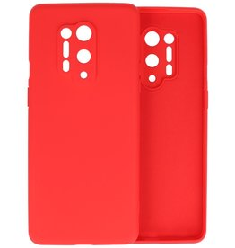 OnePlus 8 Pro Hoesje Fashion Color Backcover Telefoonhoesje Rood