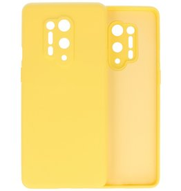 Fashion Color Backcover Hoesje OnePlus 8 Pro - Geel