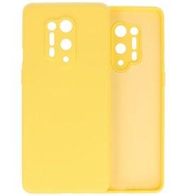 OnePlus 8 Pro Hoesje Fashion Color Backcover Telefoonhoesje Geel