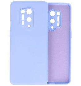 OnePlus 8 Pro Hoesje Fashion Color Backcover Telefoonhoesje Paars