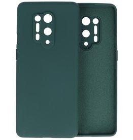 OnePlus 8 Pro Hoesje Fashion Color Backcover Telefoonhoesje Donker Groen