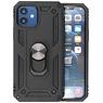 Backcover Hoesje - Telefoonhoesje met Ring Houder iPhone 12 Mini - Zwart