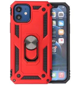 Backcover Hoesje - Telefoonhoesje met Ring Houder iPhone 12 Mini - Rood
