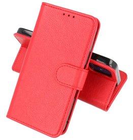 iPhone 12 Mini Hoesje Kaarthouder Book Case Telefoonhoesje Rood