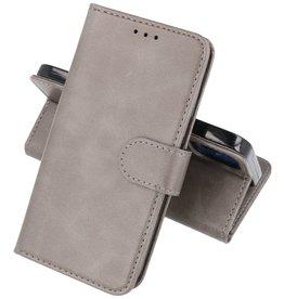 iPhone 12 Mini Hoesje Kaarthouder Book Case Telefoonhoesje Grijs