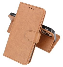 Bookstyle Wallet Cases Hoesje iPhone 12 - iPhone 12 Pro - Bruin