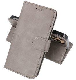 iPhone 12 & iPhone 12 Pro Hoesje Kaarthouder Book Case Telefoonhoesje Grijs