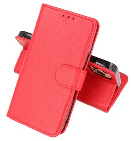 Bookstyle Wallet Cases Hoesje iPhone 12 Pro Max - Rood