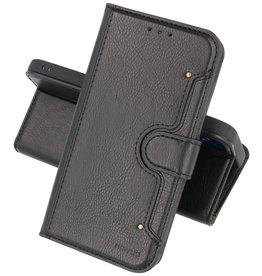KAIYUE - Luxe Portemonnee Hoesje iPhone 12 -12 Pro - Zwart