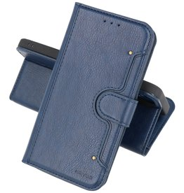 KAIYUE - Luxe Portemonnee Hoesje iPhone 12 -12 Pro - Navy
