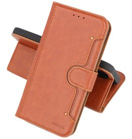 KAIYUE - Luxe Portemonnee Hoesje iPhone 12 Pro Max - Bruin