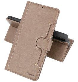 Luxe Portemonnee Hoesje Pasjeshouder Telefoonhoesje Samsung Galaxy S21 - Grijs