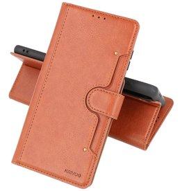 Luxe Portemonnee Hoesje Pasjeshouder Telefoonhoesje Samsung Galaxy S21 Plus - Bruin