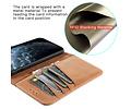 Klassiek Design - Echt Lederen Hoesje - Book Case Portemonnee Telefoonhoesje - Geschikt voor iPhone 12 - iPhone 12 Pro - Cognac