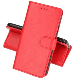 Nokia 2.4 Hoesje Kaarthouder Book Case Telefoonhoesje Rood