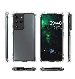 Schokbestendig Back Cover Hoesje Samsung Galaxy S21 Ultra Transparant