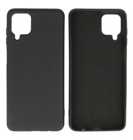 Fashion Color Backcover Hoesje Samsung Galaxy A12 Zwart