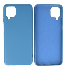 Fashion Color Backcover Hoesje Samsung Galaxy A12 Navy