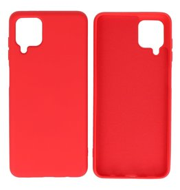 Fashion Color Backcover Hoesje Samsung Galaxy A12 Rood