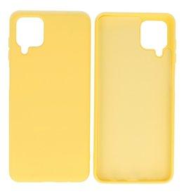 Fashion Color Backcover Hoesje Samsung Galaxy A12 Geel