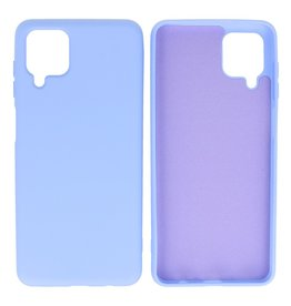 Fashion Color Backcover Hoesje Samsung Galaxy A12 Paars