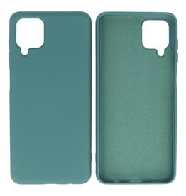 Fashion Color Backcover Hoesje Samsung Galaxy A12 Donker Groen