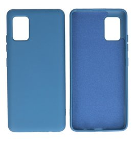 Fashion Color Backcover Hoesje Samsung Galaxy A51 5G Navy