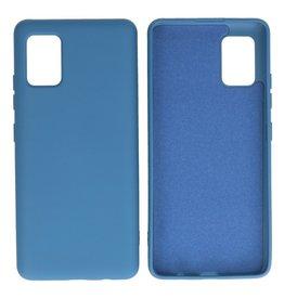 Samsung Galaxy A51 5G Hoesje Fashion Backcover Telefoonhoesje Navy