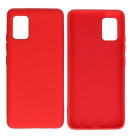 Samsung Galaxy A51 5G Hoesje Fashion Backcover Telefoonhoesje Rood