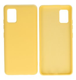 Fashion Color Backcover Hoesje Samsung Galaxy A51 5G Geel