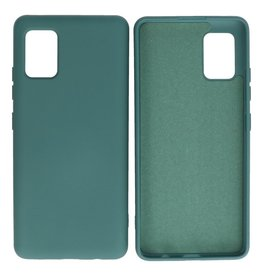 Fashion Color Backcover Hoesje Samsung Galaxy A51 5G Donker Groen