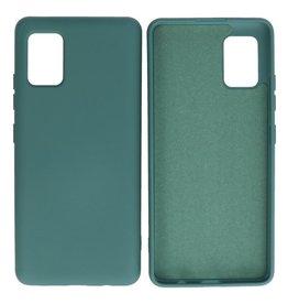 Samsung Galaxy A51 5G Hoesje Fashion Backcover Telefoonhoesje Donker Groen