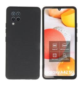 Samsung Galaxy A42 5G Hoesje Fashion Backcover Telefoonhoesje Zwart