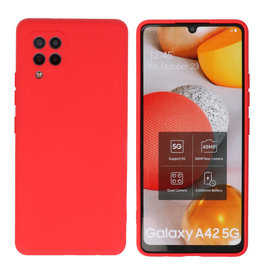 Samsung Galaxy A42 5G Hoesje Fashion Backcover Telefoonhoesje Rood