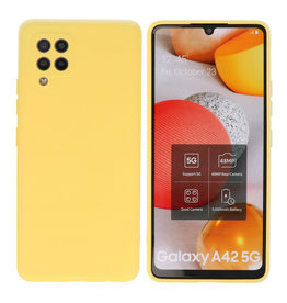 Samsung Galaxy A42 5G Hoesje Fashion Backcover Telefoonhoesje Geel