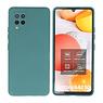 Samsung Galaxy A42 5G Hoesje Fashion Backcover Telefoonhoesje Donker Groen