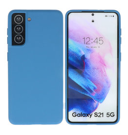 Samsung Galaxy S21 Hoesje Fashion Backcover Telefoonhoesje Navy