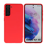 Fashion Color Backcover Hoesje Samsung Galaxy S21 Rood