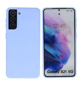 Samsung Galaxy S21 Hoesje Fashion Backcover Telefoonhoesje Paars