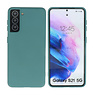 Fashion Color Backcover Hoesje Samsung Galaxy S21 Donker Groen
