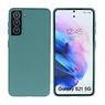 Samsung Galaxy S21 Hoesje Fashion Backcover Telefoonhoesje Donker Groen