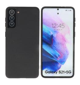 Samsung Galaxy S21 Plus Hoesje Fashion Backcover Telefoonhoesje Zwart