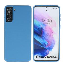 Samsung Galaxy S21 Plus Hoesje Fashion Backcover Telefoonhoesje Navy