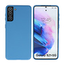 Fashion Color Backcover Hoesje Samsung Galaxy S21 Plus Navy