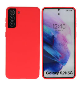 Fashion Color Backcover Hoesje Samsung Galaxy S21 Plus Rood