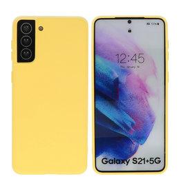 Samsung Galaxy S21 Plus Hoesje Fashion Backcover Telefoonhoesje Geel